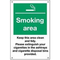 Smoking Area Exterior Notice - Smoking Gifts