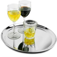 Click to view product details and reviews for Stainless Steel Waiters Tray 12inch Single.