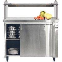 Inomak Heated Cupboard with Single Gantry andamp; Quartz Heated Box HCP11 - 1100mm