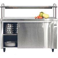 Inomak Heated Cupboard with Single Gantry andamp; Quartz Heated Box HCP19 - 1900mm