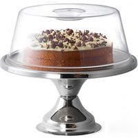 Stainless Steel Cake Stand and Plastic Cake Dome - Cake Gifts