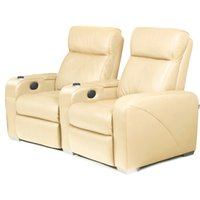 Premiere Home Cinema Seating - 2 Seater Cream - Cinema Gifts
