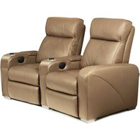 Premiere Home Cinema Seating - 2 Seater Taupe - Cinema Gifts