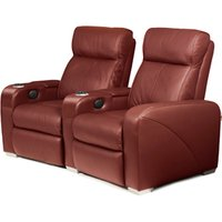 Premiere Home Cinema Seating - 2 Seater Burgundy - Cinema Gifts