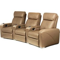 Premiere Home Cinema Seating - 3 Seater Taupe - Cinema Gifts