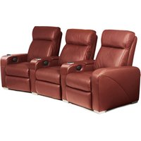 Premiere Home Cinema Seating - 3 Seater Burgundy - Cinema Gifts