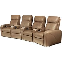 Premiere Home Cinema Seating - 4 Seater Taupe - Cinema Gifts