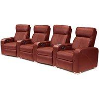 Premiere Home Cinema Seating - 4 Seater Burgundy - Home Cinema Gifts