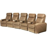 Premiere Home Cinema Seating - 5 Seater Taupe - Cinema Gifts