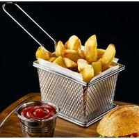 Mini Chrome Fryer Serving Basket 12.5 x 10 x 8.5cm (Pack of 6) - Chrome Gifts