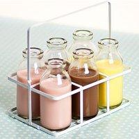 6 School Milk Bottles in Crate 3.5oz / 100ml - School Gifts
