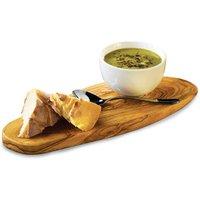Genware Olive Wood Rustic Platter 35 x 13cm - Wood Gifts