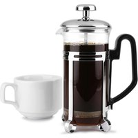 Chrome Cafetiere 3 Cup (Pack of 6) - Cup Gifts