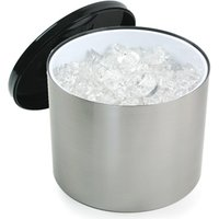 6 Litre Plastic Ice Bucket Brushed Aluminium Effect