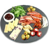 Utopia Mineral Collection Round Slate Platters 30cm (Single)