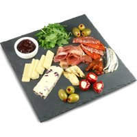 Utopia Mineral Collection Square Slate Platter 28cm (Pack of 6)