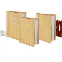 Custom Wood Effect Menu Cover A4 Pine (Set of 12) - Custom Gifts