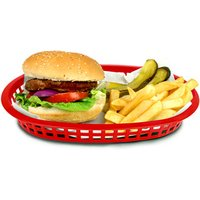 Chicago Oval Platter Basket Red 27x18x4cm (Case of 36)