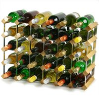 Traditional Wooden Wine Racks - Light Oak (4x6 Hole [30 Bottles])