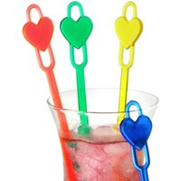 Heart Spoon Cocktail Stirrers (Pack of 50)