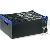 Stacking Champagne Glass Storage Boxes 35 Small Compartment (Pack of 5)