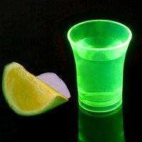 Econ Neon Green Polystyrene Shot Glasses CE 0.9oz / 25ml (Case of 100)