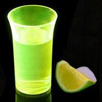 Econ Neon Yellow Polystyrene Shot Glasses CE 1.75oz / 50ml (Case of 100)