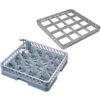 16 Compartment Glass Rack with 4 Extenders