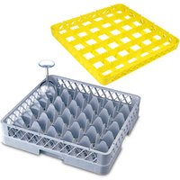 36 Compartment Glass Rack with 3 Extenders