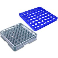 49 Compartment Glass Rack with 4 Extenders