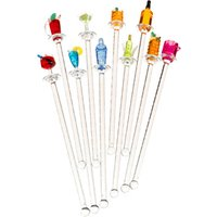 Happy Hour Acrylic Swizzle Sticks (Pack of 10)