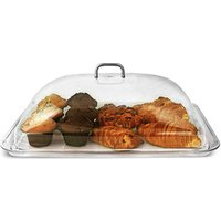 Polycarbonate Rectangular Cake Dome with Tray (Tray and Cover) - Cake Gifts