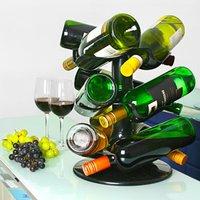 Rotatable 9 Bottle Wine Rack (Single)