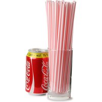 Striped Milkshake Straws 8inch Red & White (Case of 3000)