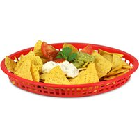 Texas Oval Platter Basket Red 32.5x24x4cm (Single)