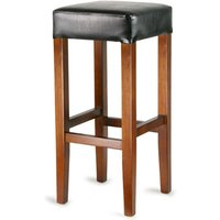 Wooden Cuboid Bar Stool Black (Single)