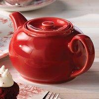 Churchill Beverage Cafe Red Nova Teapot 15oz / 420ml (Pack of 4)