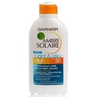 Garnier Ambre Solaire Light & Silky Milk Spf 30 200ml