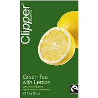 Clipper Fairtrade Lemon Green Tea 25 Bags