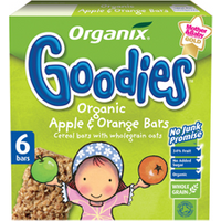 Organix Goodies Fruit & Cereal Bar - Apple & Orange Multi Pack 30g x 6