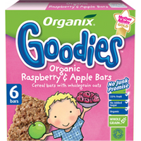 Organix Goodies Fruit & Cereal Bar - Apple & Raspberry Multi Pack 30g x 6