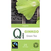 Qi Organic Green Tea With Ginkgo 25 Bags