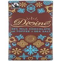 Divine Chocolate Milk Chocolate Toffee & Salt 100g
