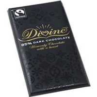 Divine Chocolate 85% Dark Chocolate 100g