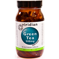 Viridian Organic Green Tea Leaf 500mg Veg Caps 90 Caps