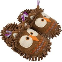 Aroma Home Fun For Feet Fuzzy Slippers - Owl