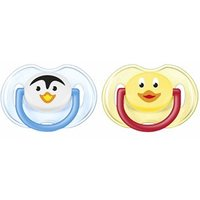 Avent Animal Silicone Soother 0-6m Girls