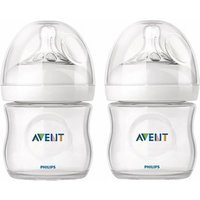 Avent Natural Feeding Bottle 0m+ (2 Pack) 2x 125ml/4oz