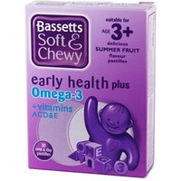 Bassett's Early Health Plus Omega 3 + Vitamins ACD&E Summer Fruit 30 pastilles