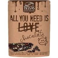 "Belvas ""All You Need Is Chocolate"" Organic Dark Belgian Chocolate 120g"